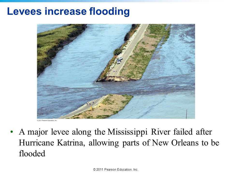 Levees increase flooding