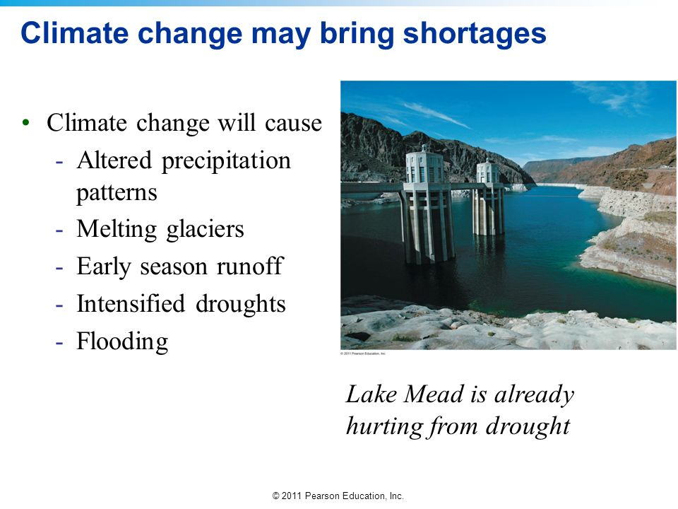 Climate change may bring shortages