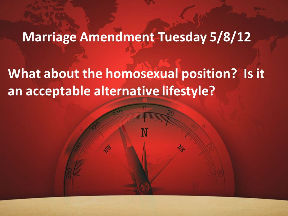Marriage Amendment Tuesday 5/8/12