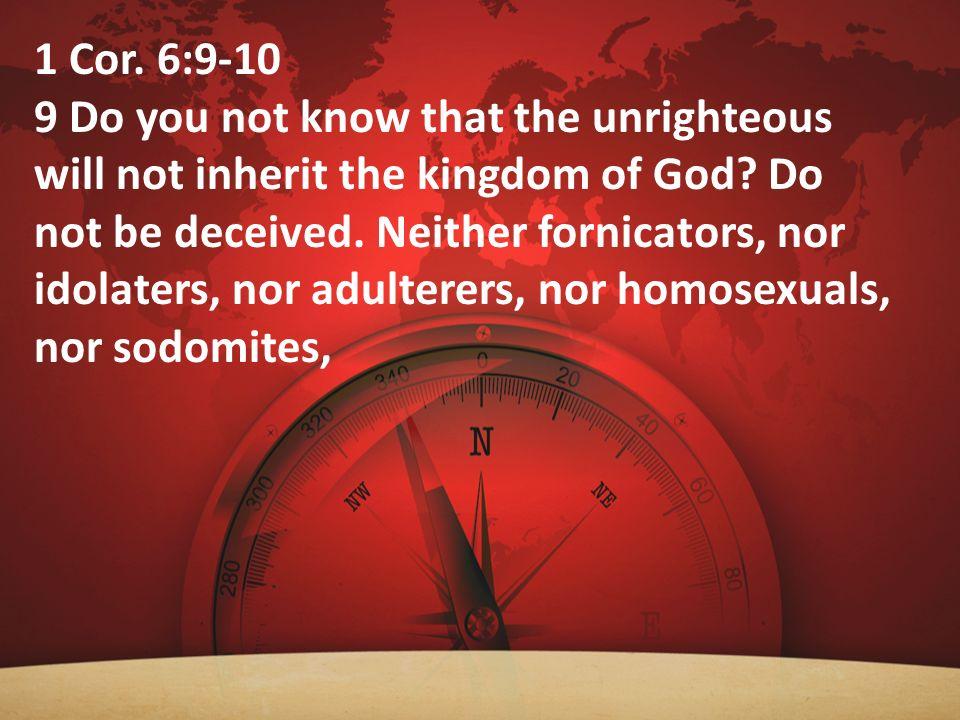 1 Cor. 6:9-10