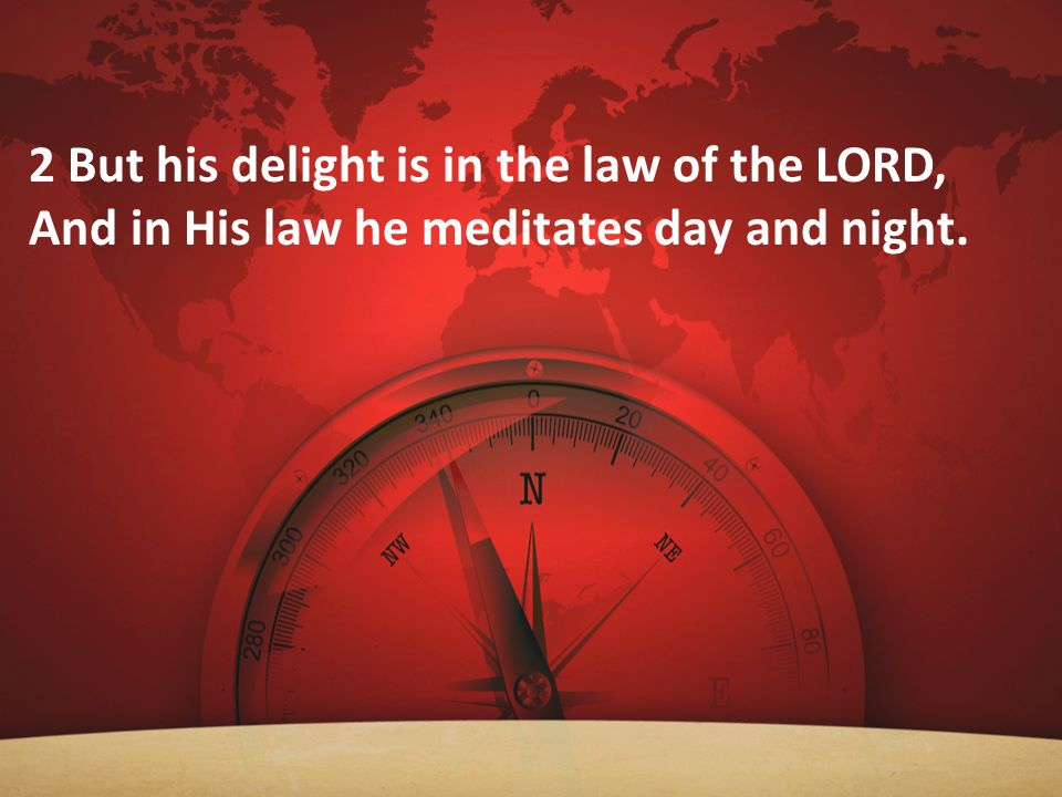 2 But his delight is in the law of the LORD,