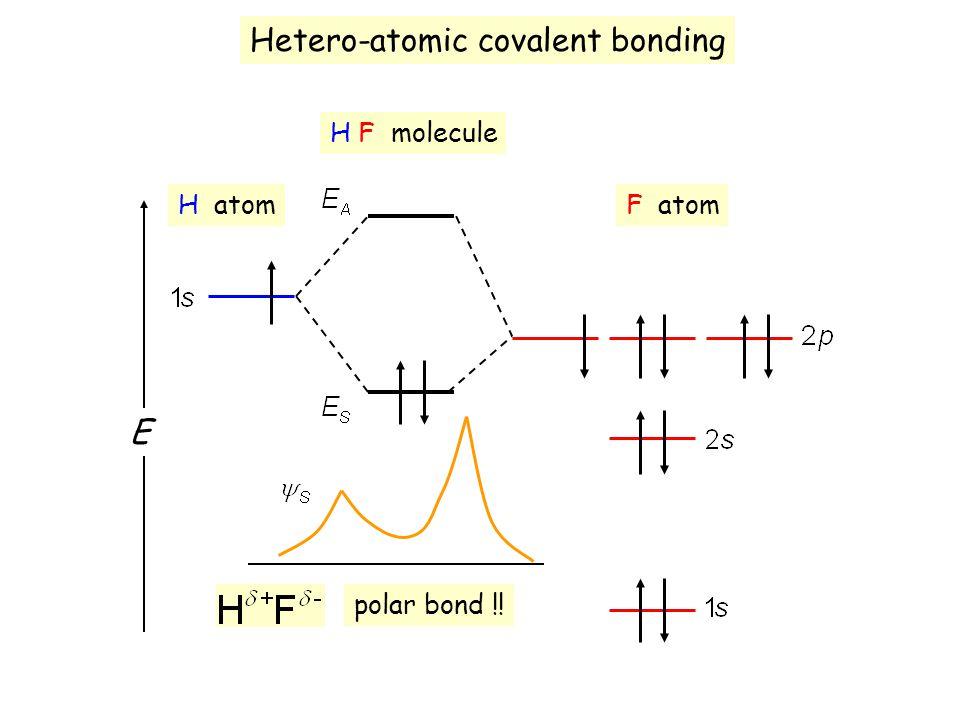 Hetero-atomic covalent bonding
