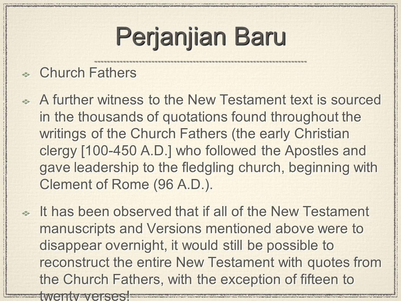 Perjanjian Baru Church Fathers