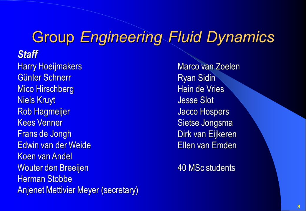 Group Engineering Fluid Dynamics