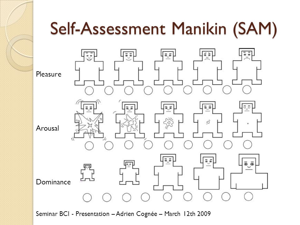 Self-Assessment Manikin (SAM)
