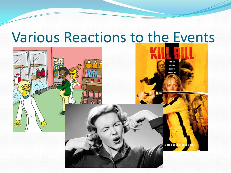 Various Reactions to the Events