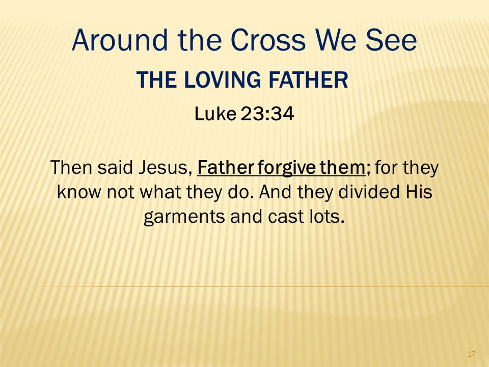 Around the Cross We See The Loving Father Luke 23:34