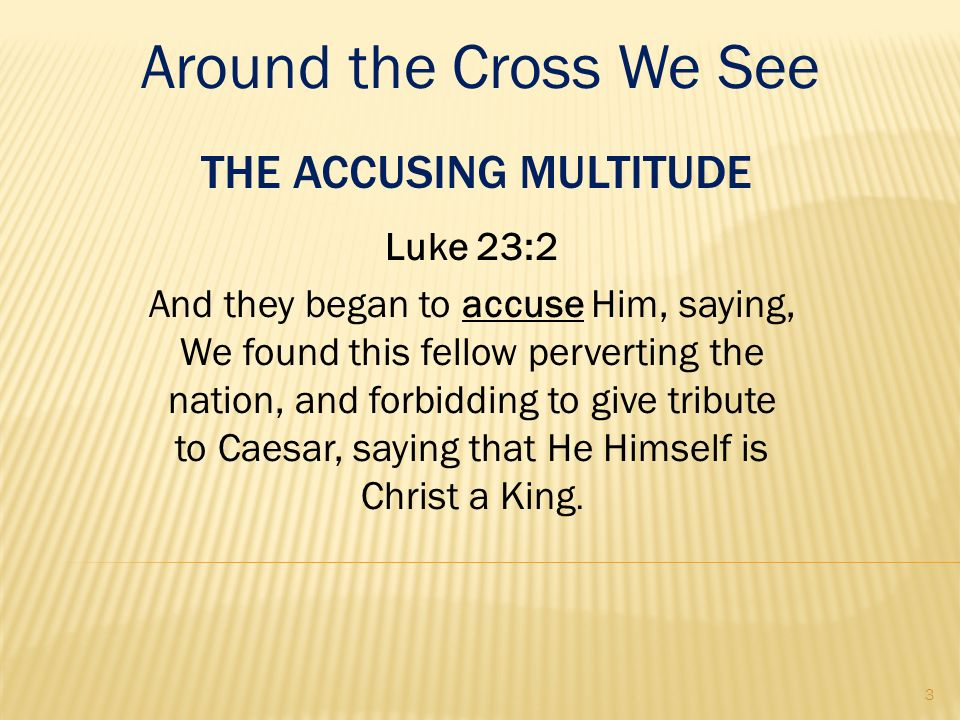 The Accusing Multitude