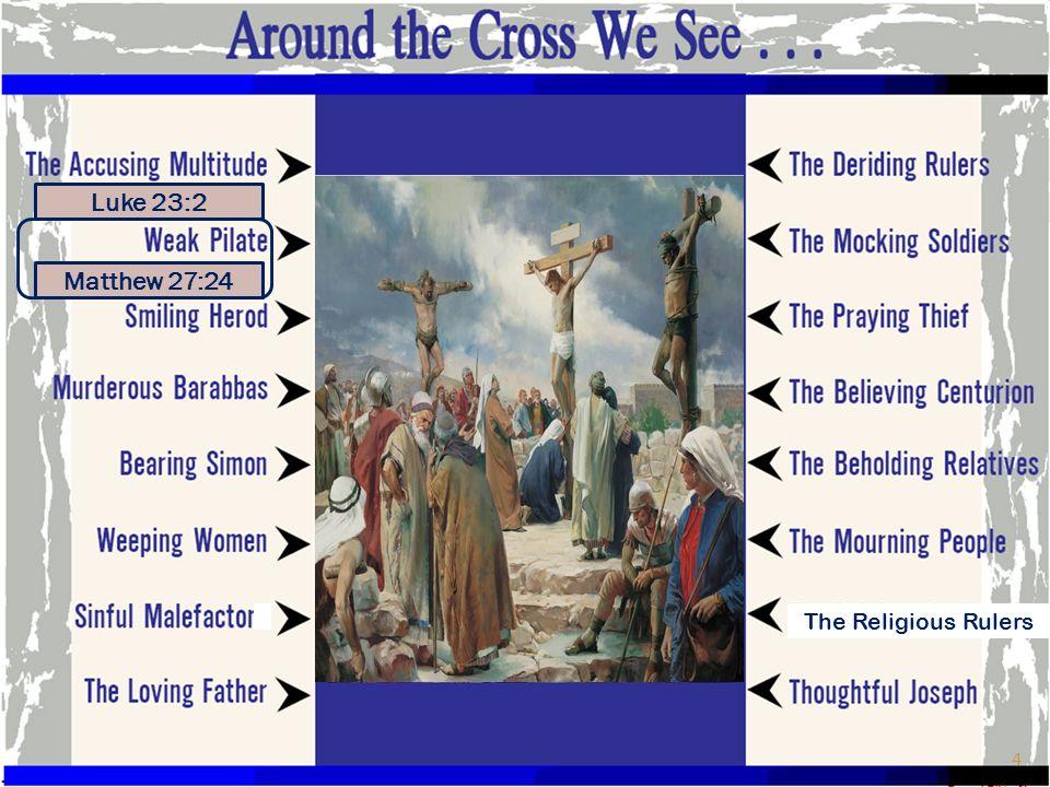 Luke 23:2 Matthew 27:24 The Religious Rulers