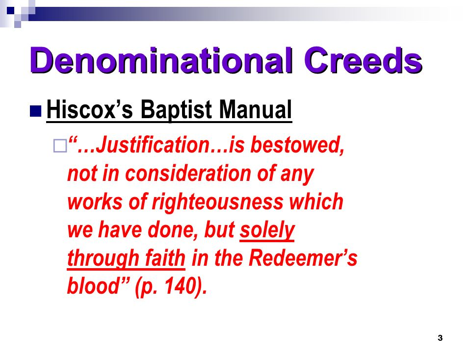 Denominational Creeds