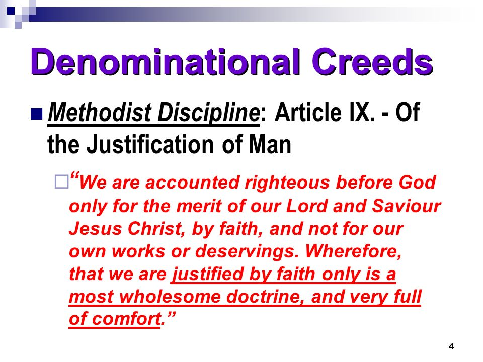 Denominational Creeds
