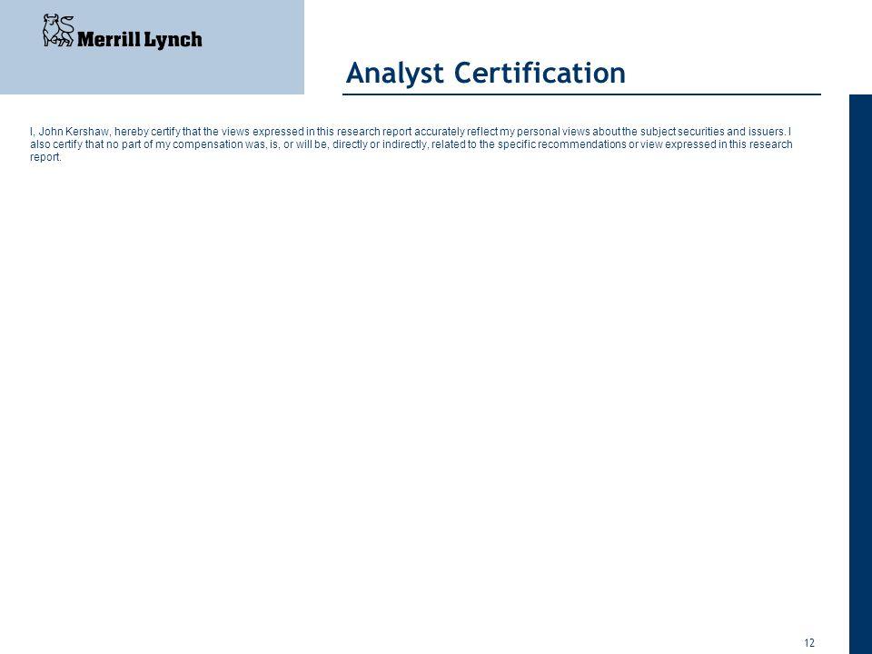 Analyst Certification