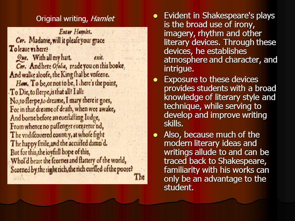 Original writing, Hamlet