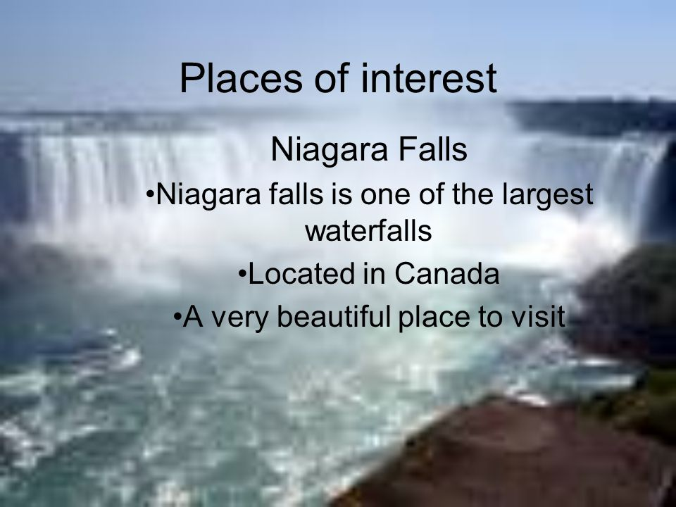 Places of interest Niagara Falls