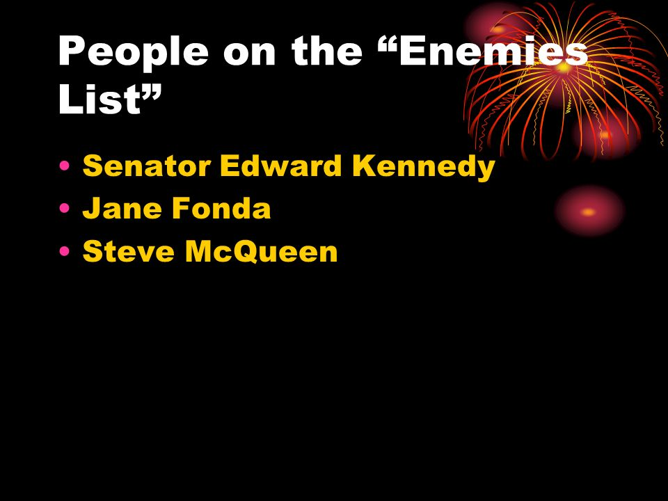 People on the Enemies List