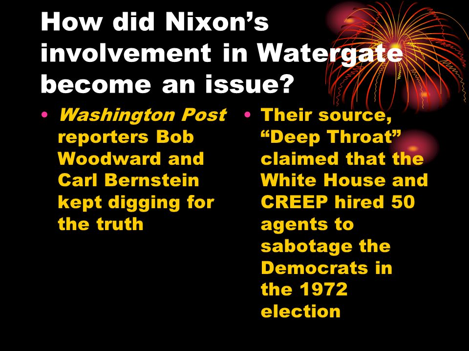 How did Nixon's involvement in Watergate become an issue