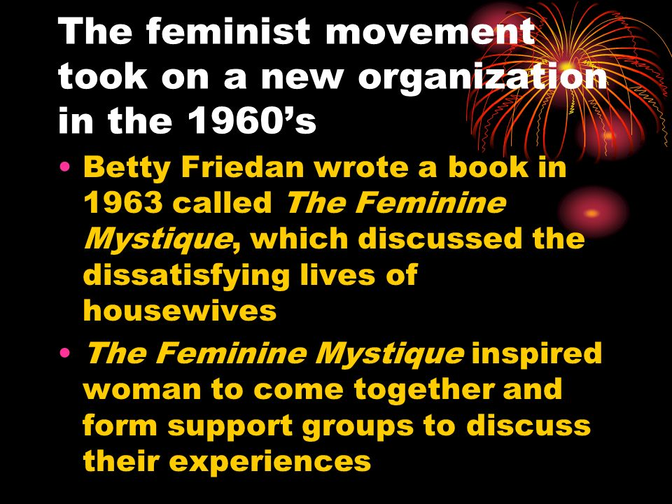 The feminist movement took on a new organization in the 1960's
