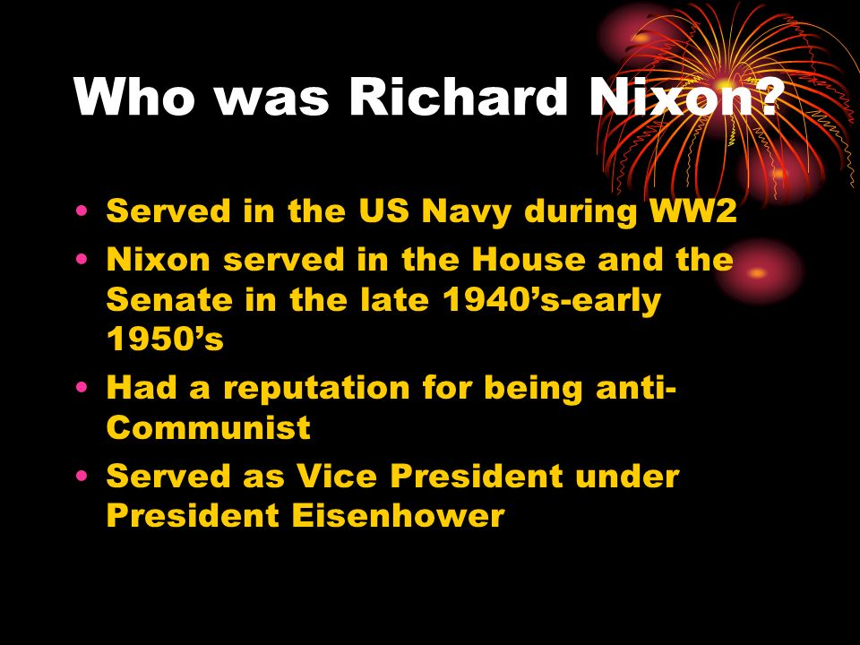 Who was Richard Nixon Served in the US Navy during WW2