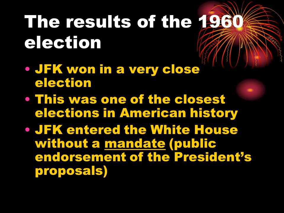 The results of the 1960 election