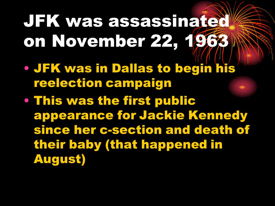 JFK was assassinated on November 22, 1963