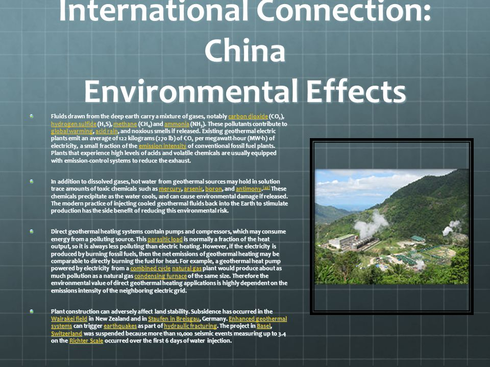 International Connection: China Environmental Effects