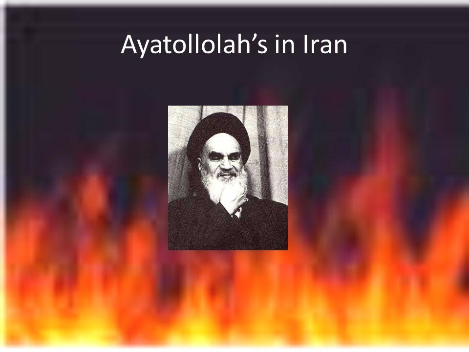 Ayatollolah's in Iran