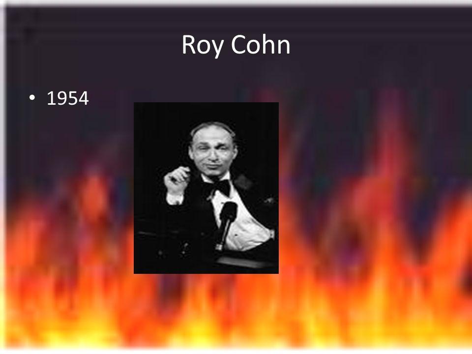 Roy Cohn 1954
