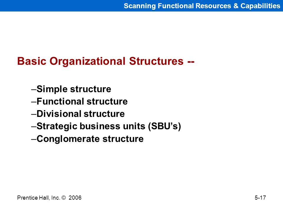Basic Organizational Structures --
