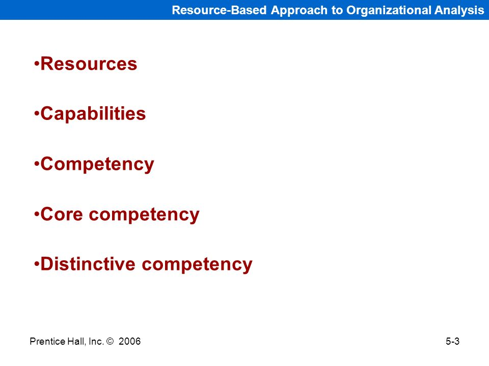 Distinctive competency