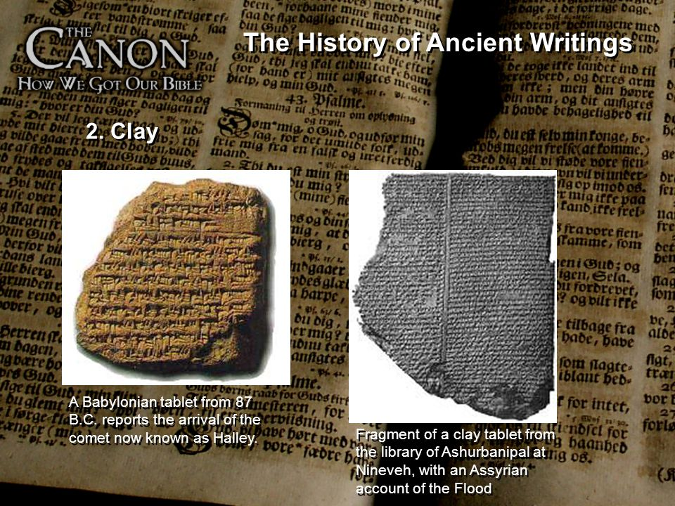The History of Ancient Writings