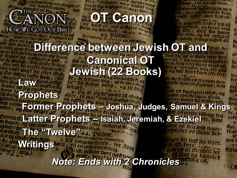 Difference between Jewish OT and Canonical OT