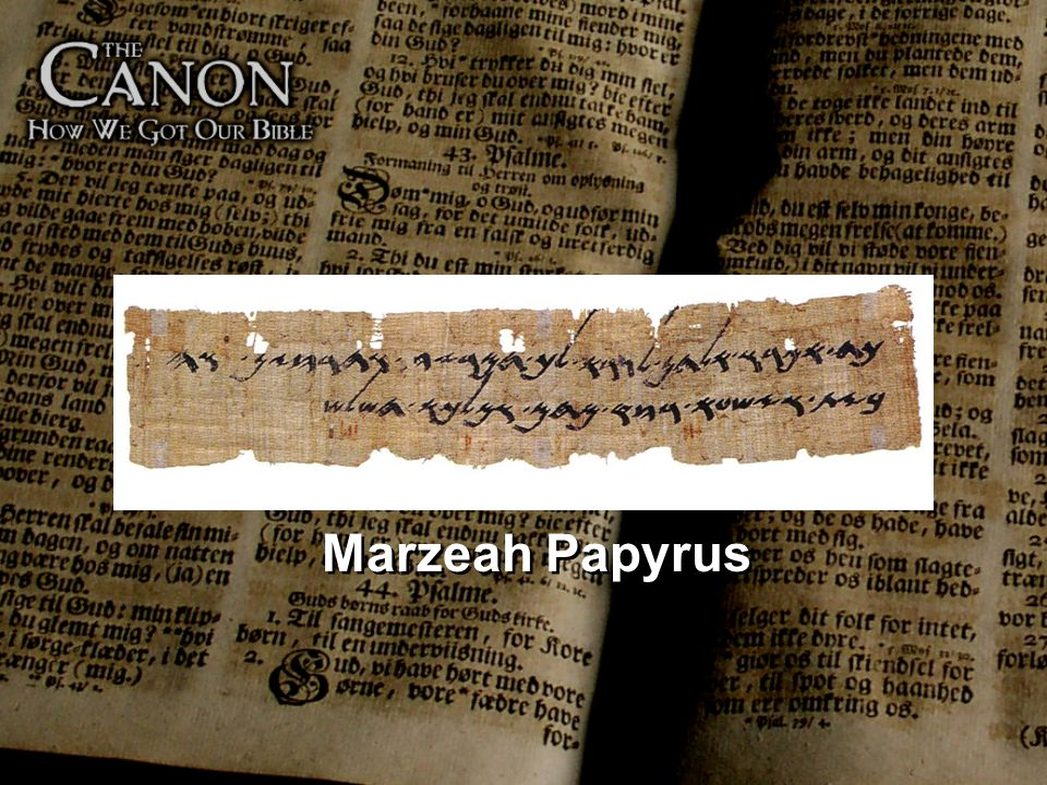 Over 500 years older than the Dead Sea Scrolls, the Marzeah Papyrus (7th century BC), is currently touring the US as part of a larger exhibition and is touted as either the earliest Hebrew writing on papyrus or the oldest known Hebrew manuscript in the world and the oldest known mention of the name Elohim, a name for God in the Old Testament or Hebrew Bible. Taking its cue from this last claim, it is now often called the Elohim papyrus.