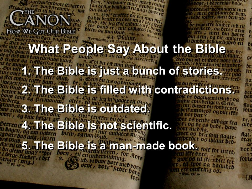 What People Say About the Bible