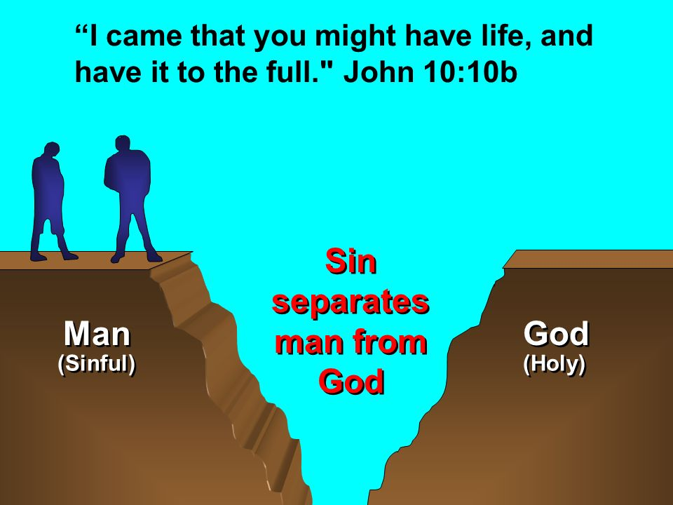 Sin separates man from God