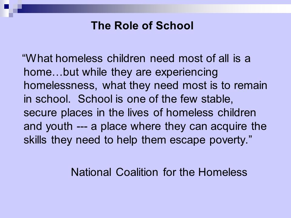 The Role of School