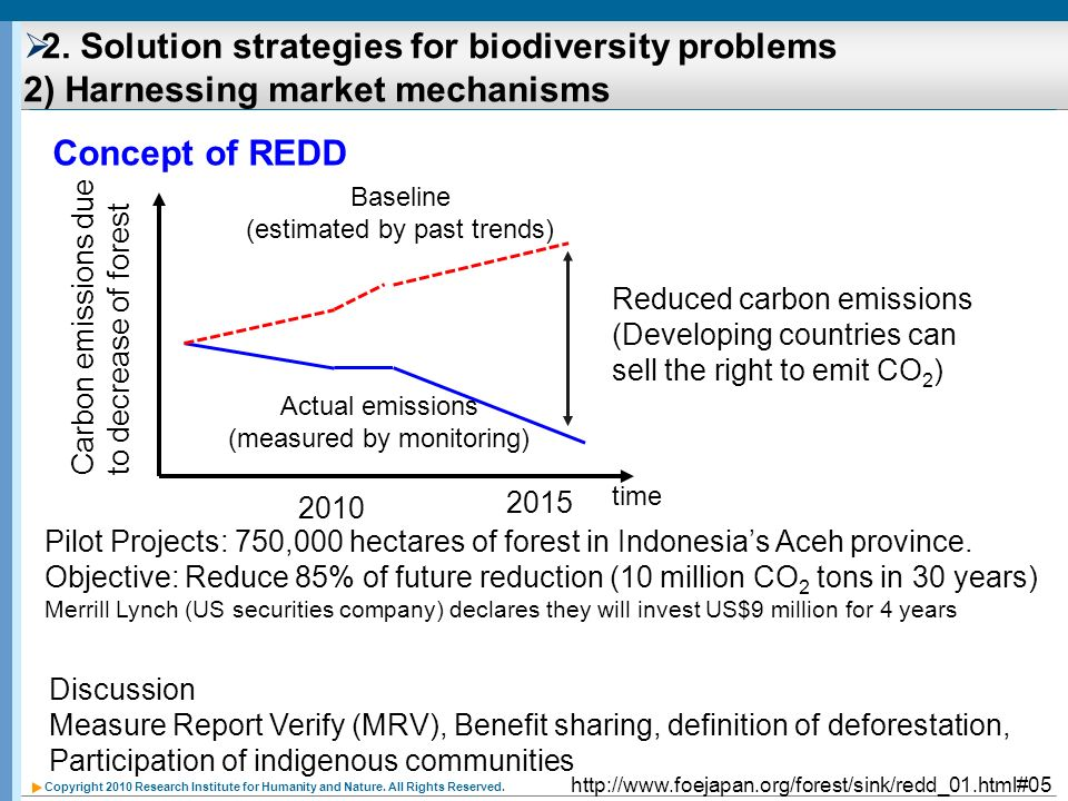 2. Solution strategies for biodiversity problems 2) Harnessing market mechanisms