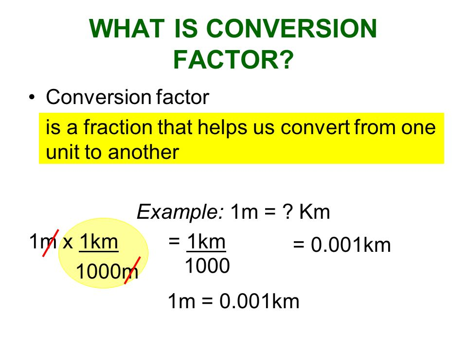 WHAT IS CONVERSION FACTOR
