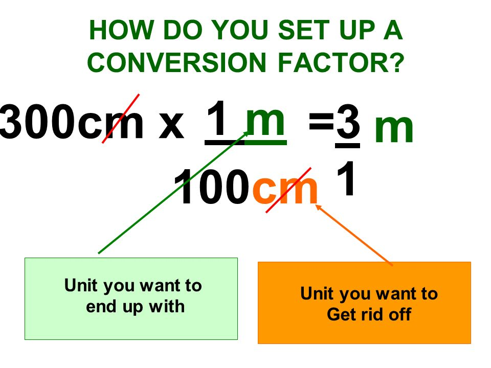 HOW DO YOU SET UP A CONVERSION FACTOR