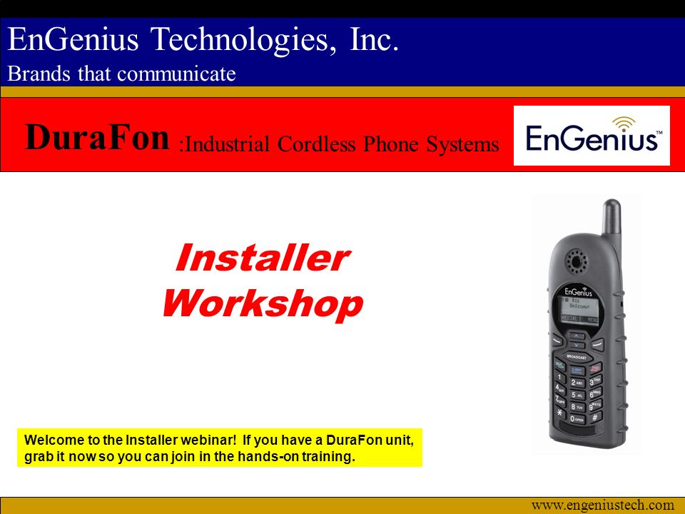 DuraFon Installer Workshop :Industrial Cordless Phone Systems