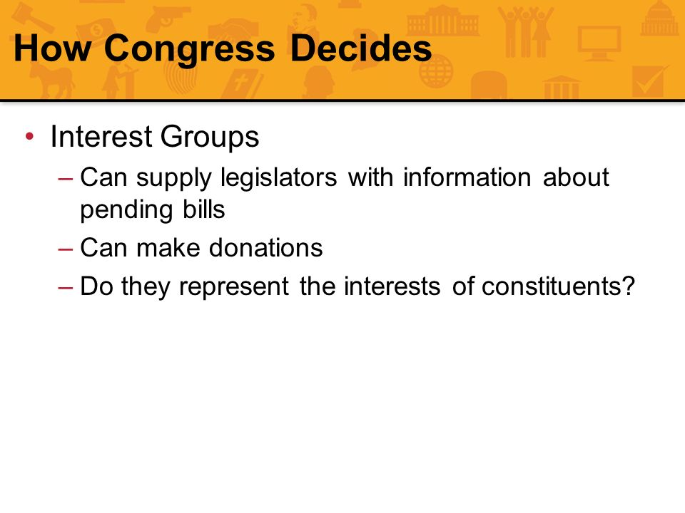 How Congress Decides Interest Groups