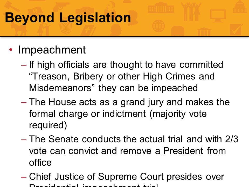 Beyond Legislation Impeachment