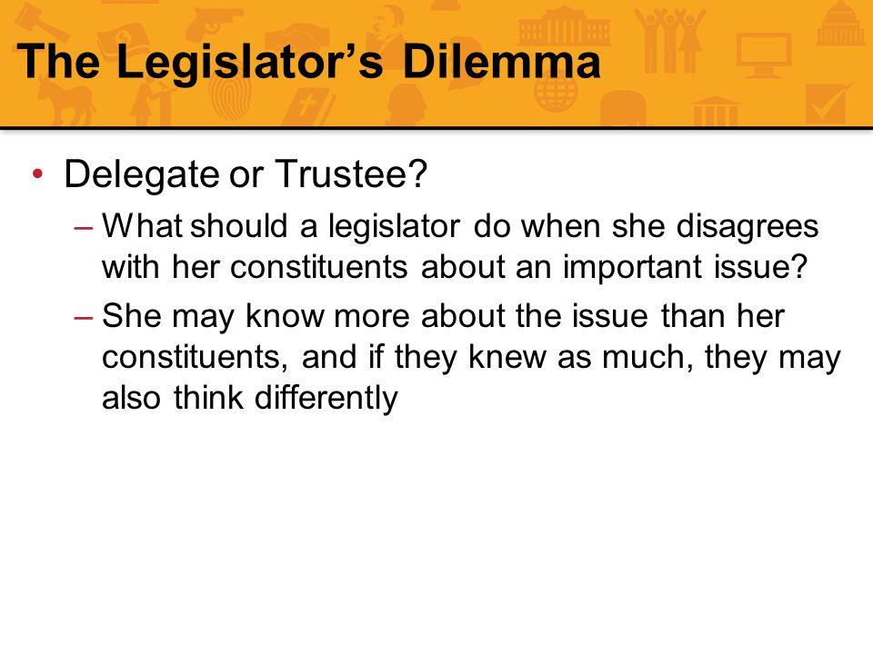 The Legislator's Dilemma