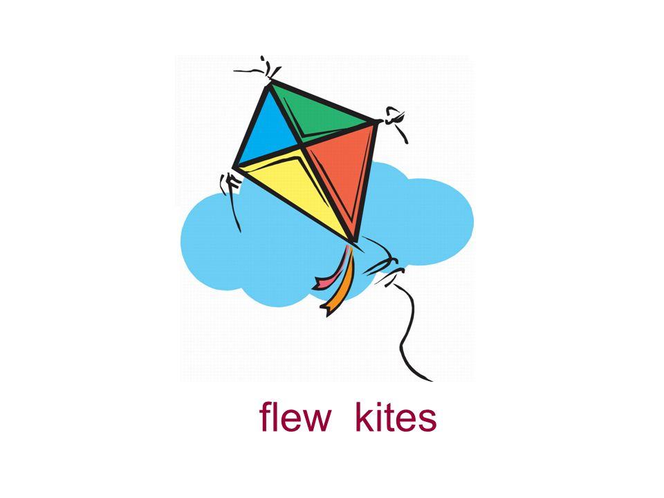 flew kites