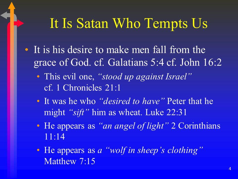 It Is Satan Who Tempts Us