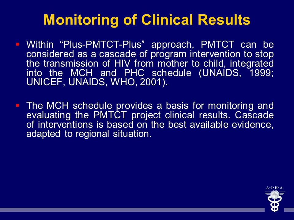 Monitoring of Clinical Results