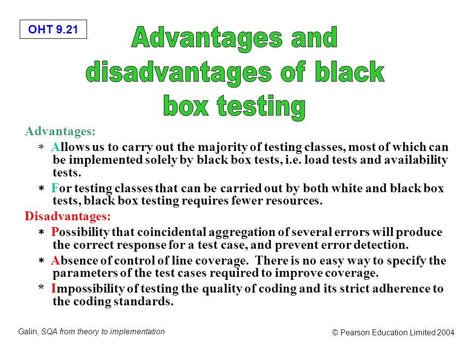 disadvantages of black