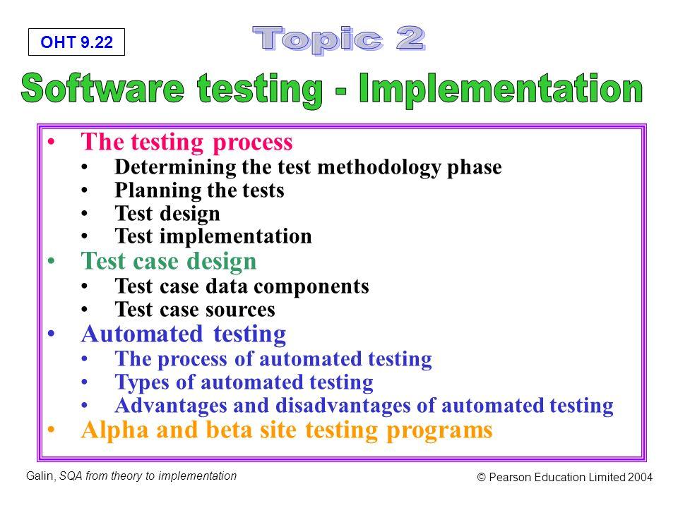 Software testing - Implementation