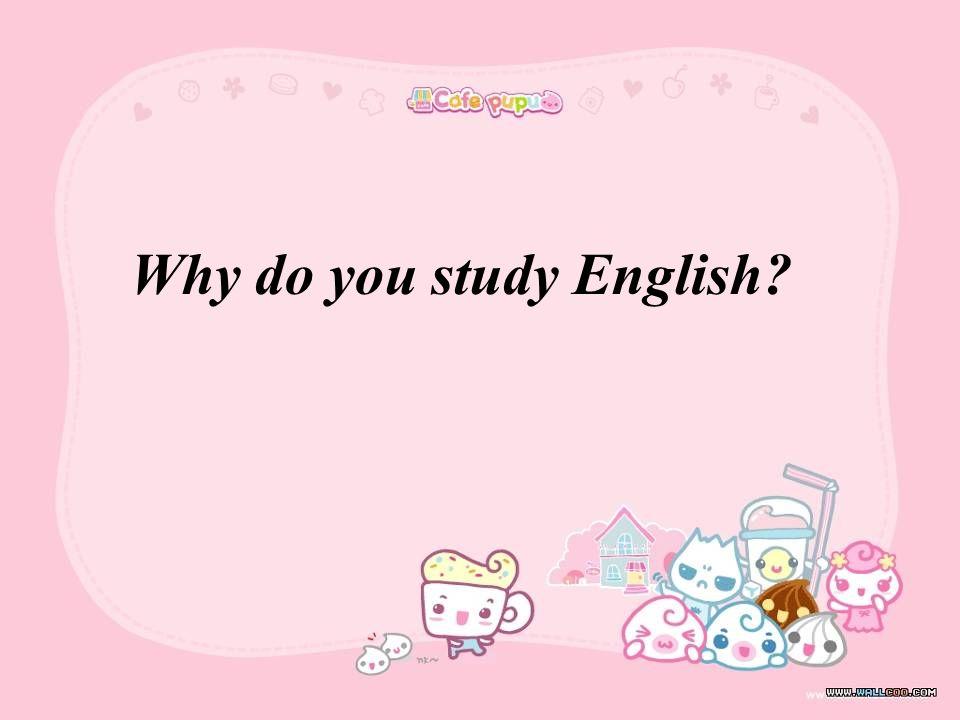 Why do you study English
