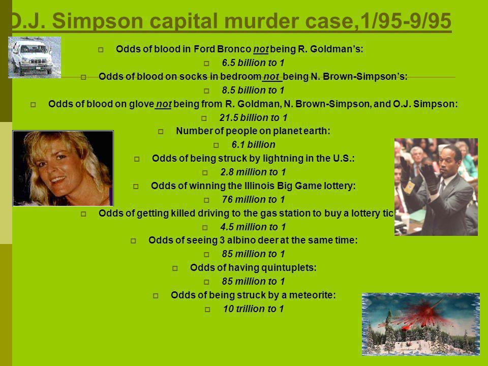 O.J. Simpson capital murder case,1/95-9/95