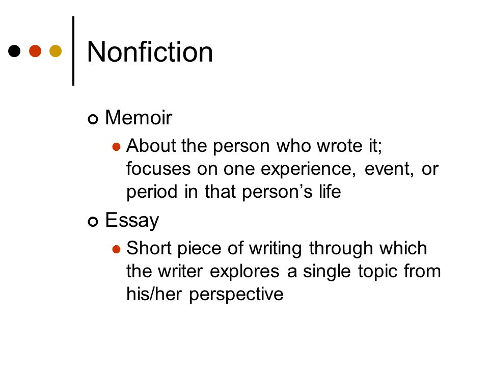 Nonfiction Memoir Essay